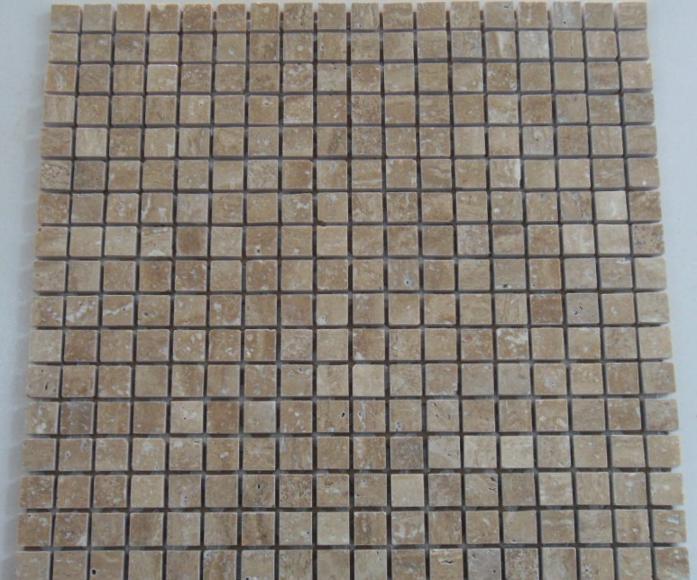 Travertine noce mosaics osborne ceramic tile centre for Bathrooms osborne park